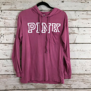 Pink Long Sleeve Hooded Top